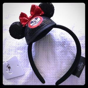 Disney Mickey Hat Minnie Bow headband